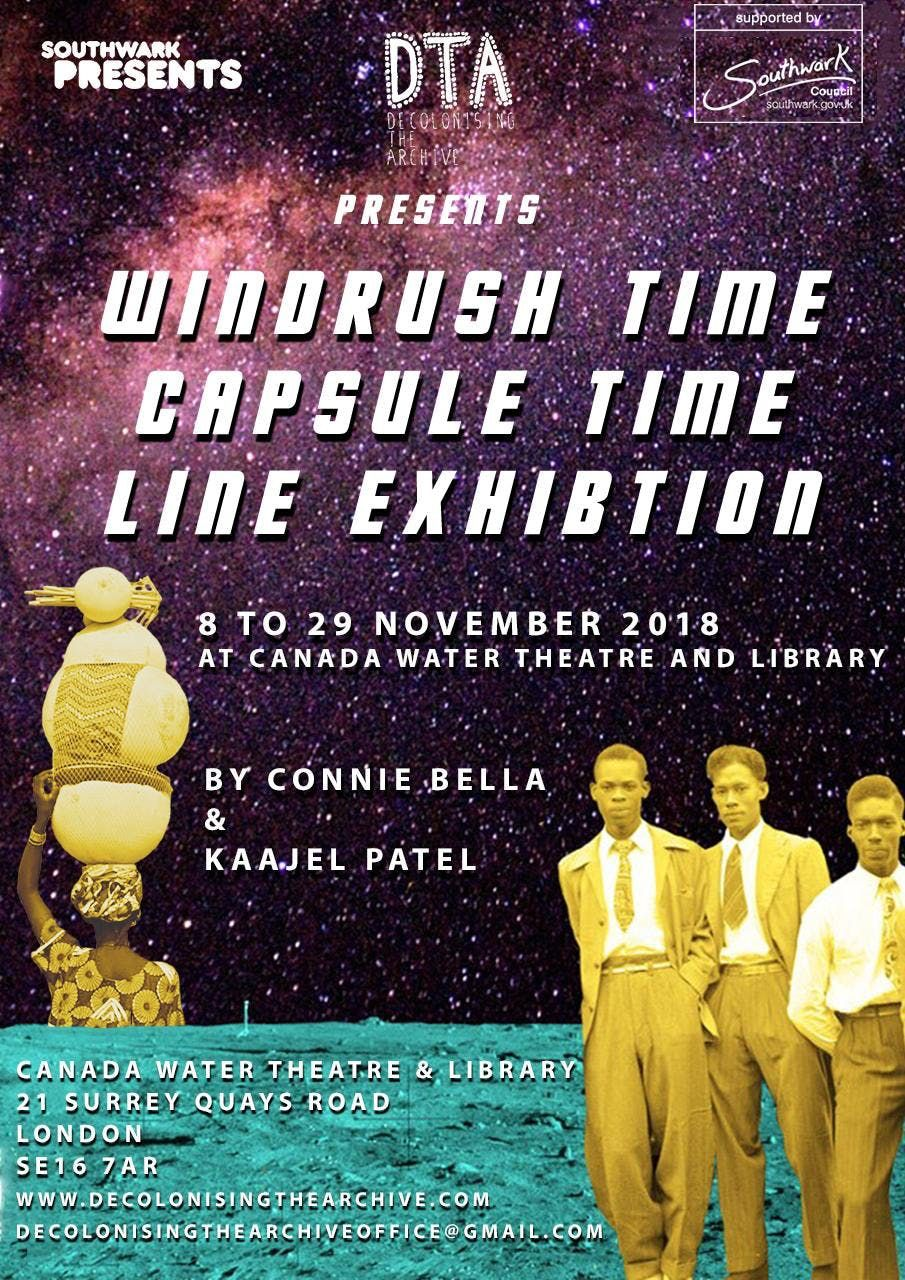 Windrush Time Capsule Time Line Exhibition