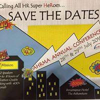 AHRMAs 2016 Annual Conference - &quotHR Super HeRoes&quot