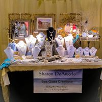 Sea Glass by Sharon Visits Art League of Marco Island