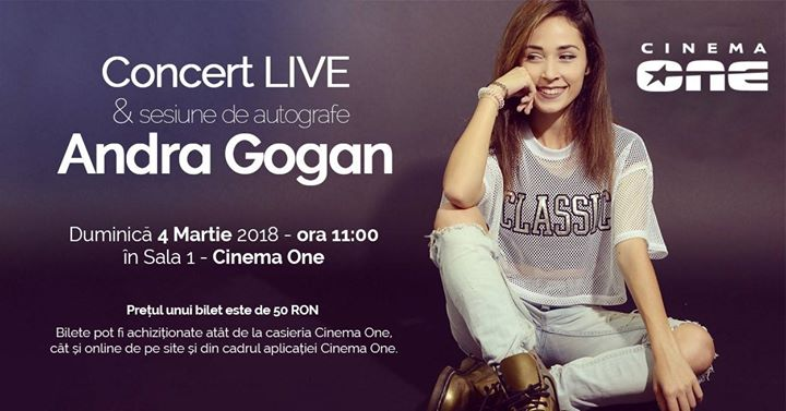 Concert live Andra Gogan