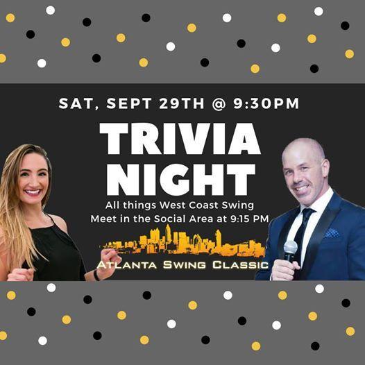 Trivia Night At Atlanta Swing Classic 2018 Atlanta