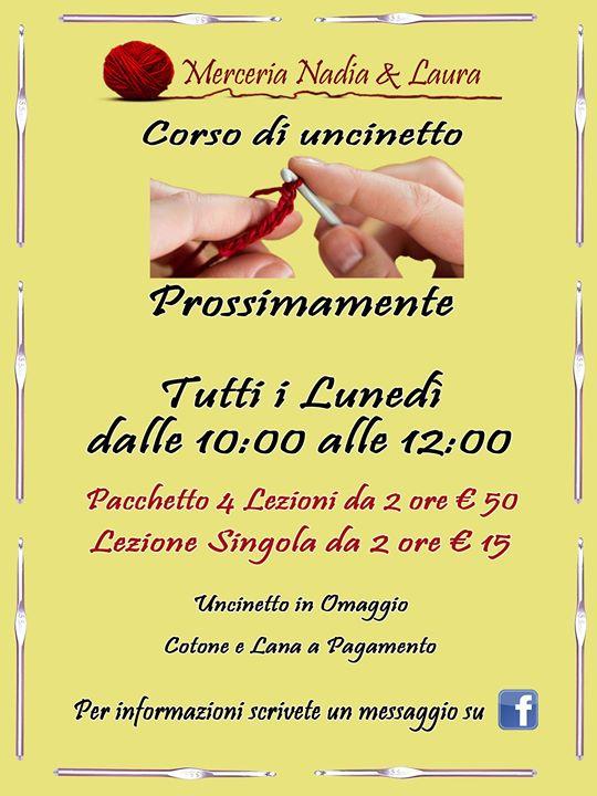 Corso Di Uncinetto At Merceria Nadia E Laura Rome