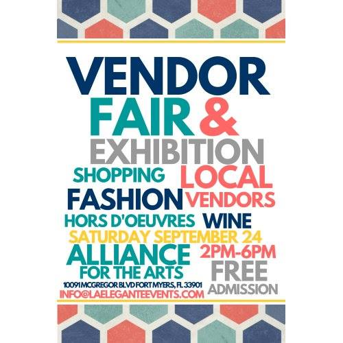 Date changed fort myers vendor fair and exhibition at for Craft fair fort myers