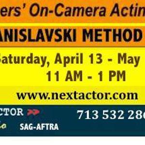 On-Camera Stanislavski Method-Based Acting Classes in