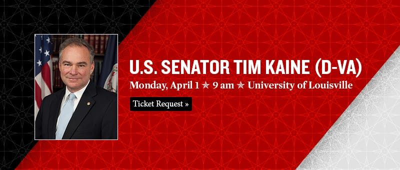 McConnell Center hosts U.S. Sen. Tim Kaine