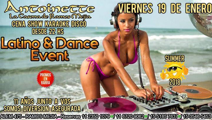 Antoinette Viernes 19 Ene Latino & Dance Event en la casona