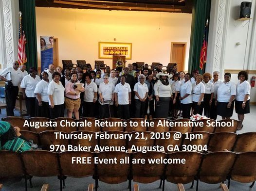 Augusta Chorale Performs at the Alternative School