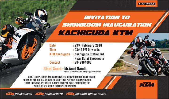 Ktm kachiguda inauguration hyderabad ktm kachiguda inauguration stopboris Choice Image