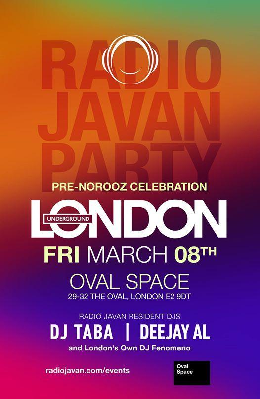 Radio Javan Party in London at Oval Space, London
