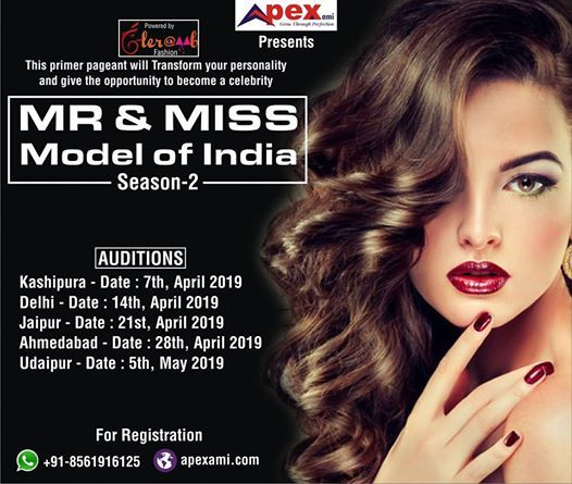 Ahmedabaad Audition Mr & Miss Model Of India-2 2019