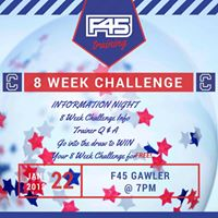 F45 Gawler January 8 Week Challenge Information Night