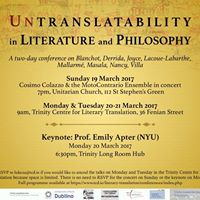 Untranslatability in Literature and Philosophy