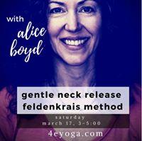 Gentle neck release using feldenkrais method