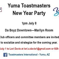 Yuma Toastmasters New Year Party
