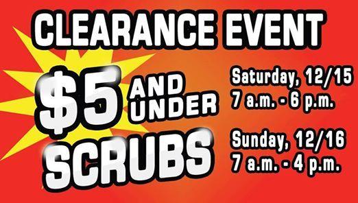 4ecd8571cab $5 Scrubs Sale at 3400 E McDowell Rd, Phoenix, AZ 85008-3884, United ...