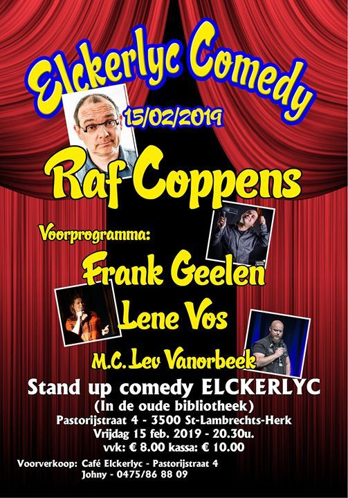 Elckerlyc Comedy met Raf coppens