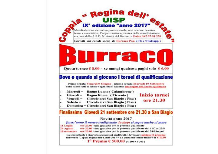 Burraco al Bagno Roma at BAGNO ROMA - Tirrenia, Pisa