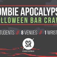 Zombie Apocalypse  Halloween bar crawl 2017