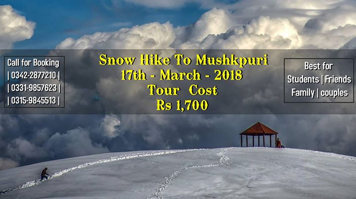 Snowy Hike to Mushkpuri (17th march 2018)