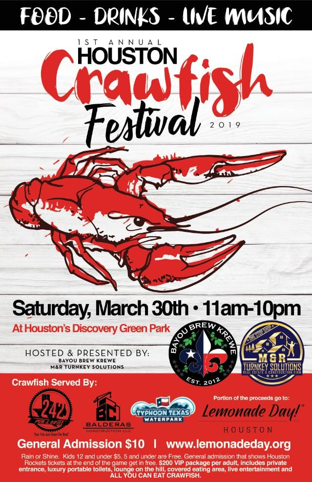1st Annual Houston Crawfish Festival at Discovery Green