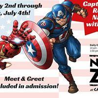 Naples Zoo Presents Captain America and Iron Man