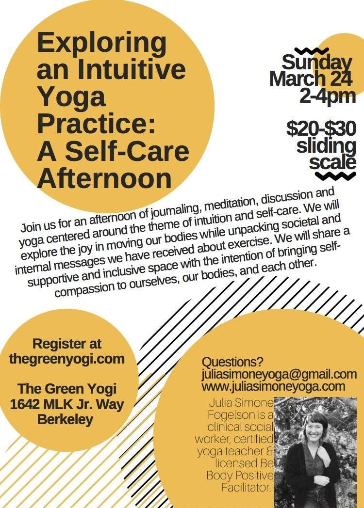 Exploring An Intuitive Yoga Practice An Afternoon of Self-Care