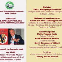 Omaggio a Rosario Villari storico scrittore e politico