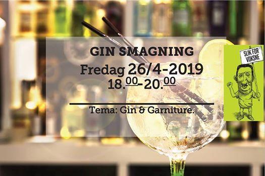 Ginsmagning fredag d. 26 april 2019