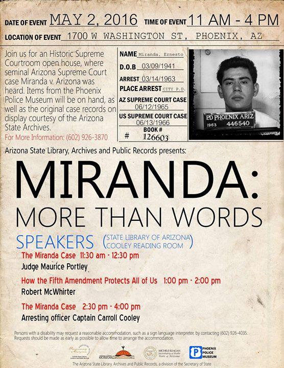 Miranda v arizona date in Brisbane