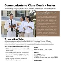 Transaction Talk Communicate to Close Deals - Faster