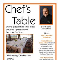 Chefs Table (Members Only)