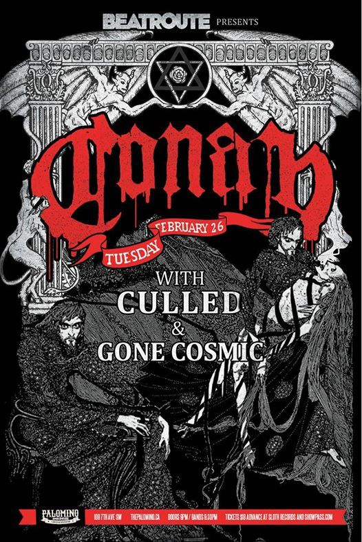 BeatRoute presents CONAN with Culled and Gone Cosmic