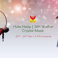 Experiential Act - Hula Hoop Stilt Walker Crystal Maze