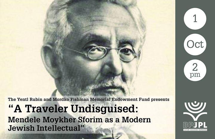 Dan Miron A Traveler Undisguised - Mendele Moykher Sforim