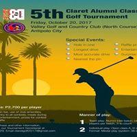 5th Claret Alumni Classic Golf Tournament 2017