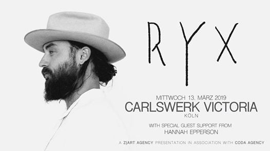 RY X at Carlswerk Victoria Cologne