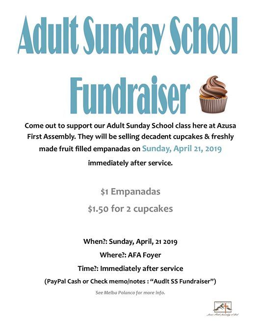 Sunday School Fundraiser at Azusa First, Azusa