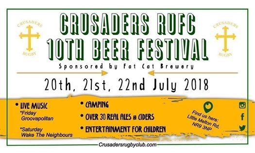 Crusaders 10th Beer Festival 2018