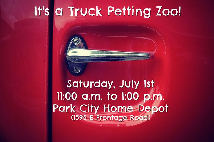 Its A Truck Petting Zoo At The Home Depot Park City