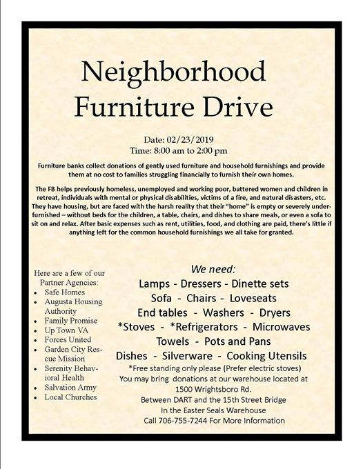 Community Furniture Drive