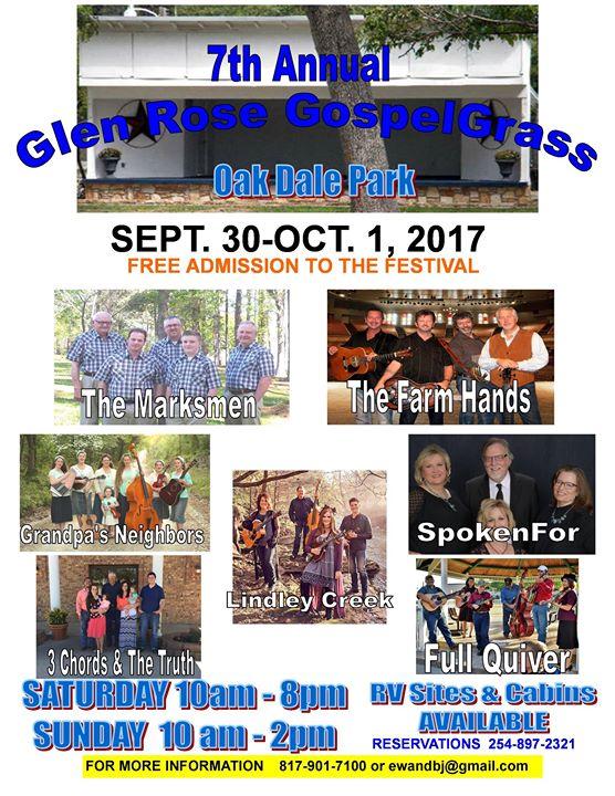 Glen Rose GospelGrass Festival, Oakdale Park, Glen Rose ...