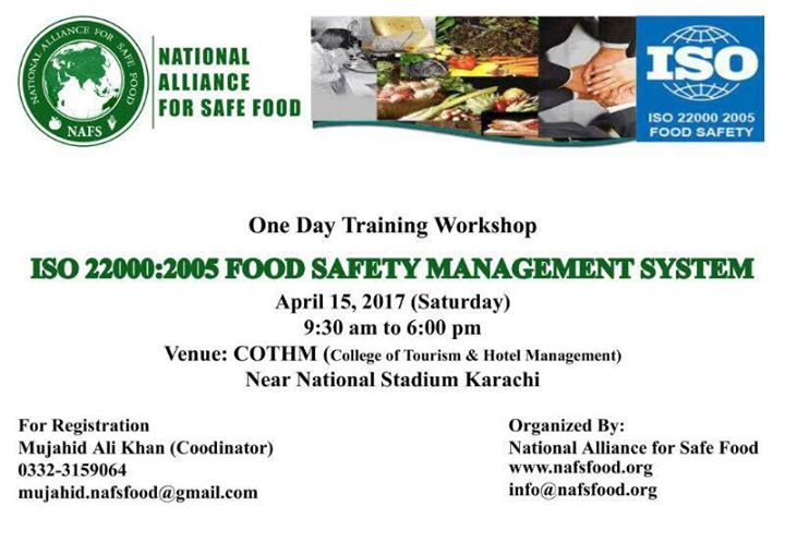 Training Workshop On Iso 22000 Food Safety Management System At
