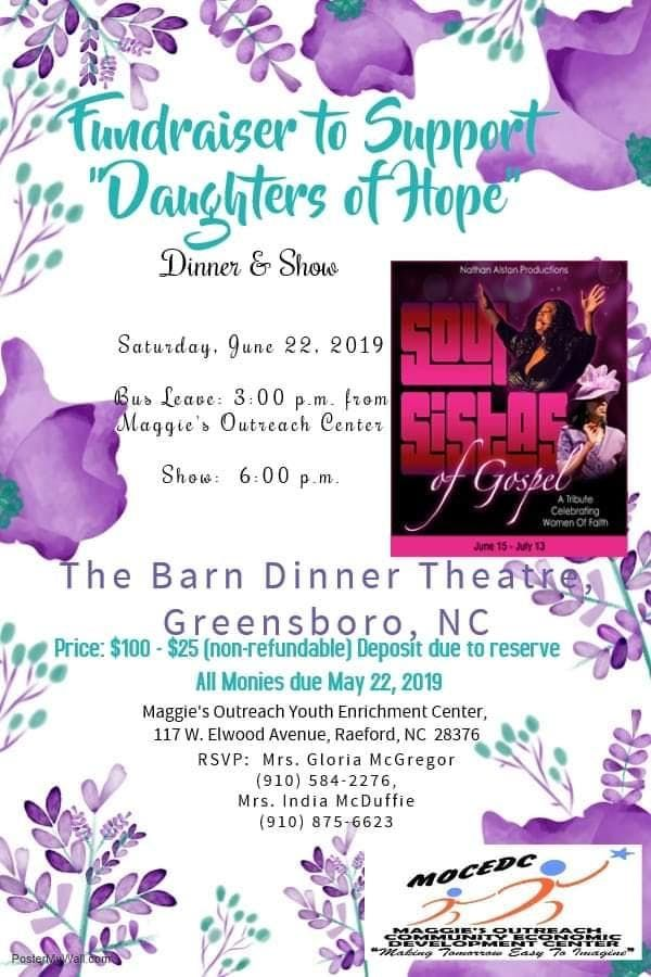 Dinner and Show Fundraiser to Greensboro at The Barn ...
