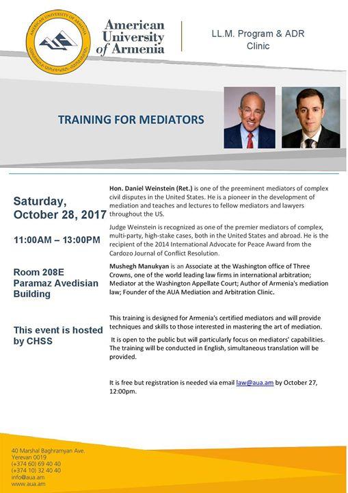 Training for Mediators