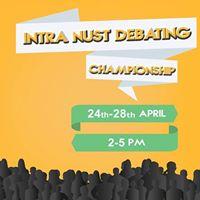 Intra NUST Debating Championship 2017