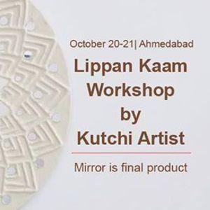 Lippan Kaam Workshop by Kutchi Artist