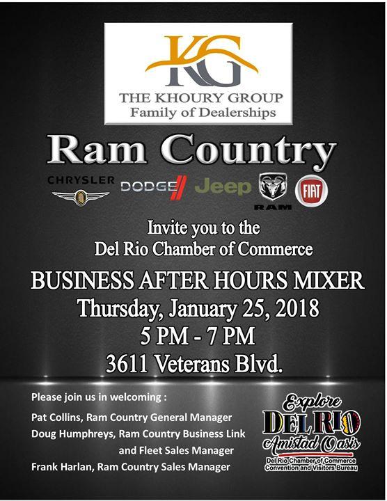 Ram Country Del Rio >> Monthly Mixer Ram Country At 3611 Veterans Blvd Del Rio