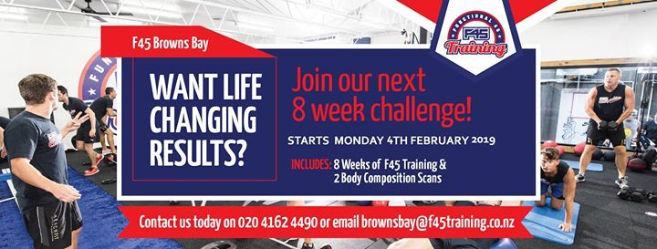 F45 8 Week Challenge- Info Night