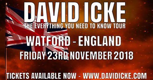 David Icke Live in Watford - Friday 23rd November