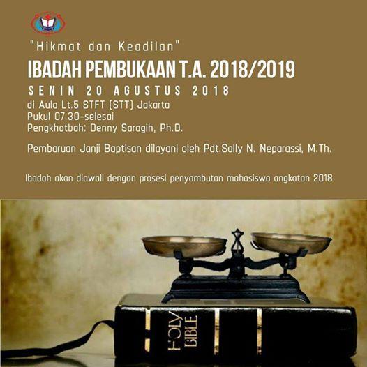 Ibadah Pembukaan Tahun Akademik 2018-2019